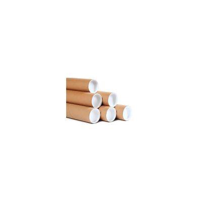 "2-1/2"" x 24"" x .070 wall Kraft Tubes with Plugs"