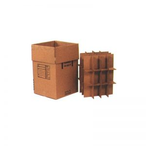 18″ x 18″ x 28″ Heavy Duty Double Wall Box with Partitions – Dish Pack Box