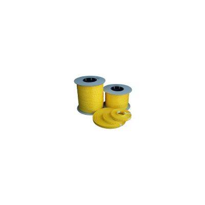 "9/16"" x 1000 ft - Yellow Self-locking Postal Strapping"